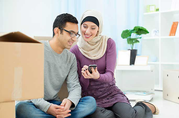 Middle-East-Couple-Packing-for-Move
